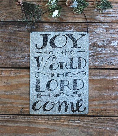 Joy to the World Tin Sign