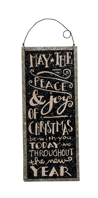 Peace & Joy Tin Sign