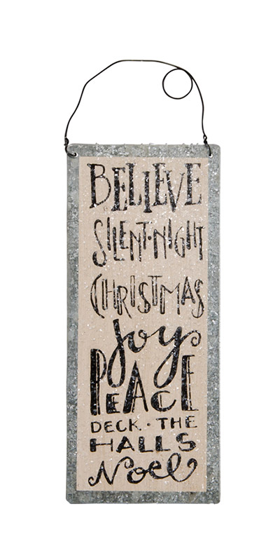 Believe Tile Sign