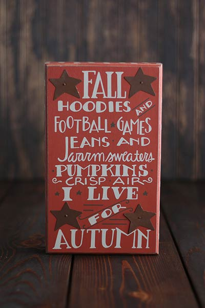 Fall Hoodies Box Sign