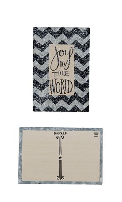 Joy to the World Tin Postcard