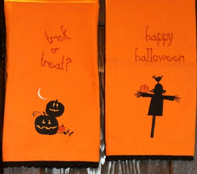 Halloween Embroidered Guest Towel