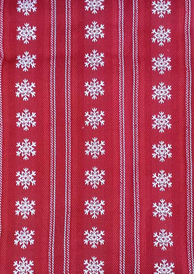 Snowflake Dobby Stripe Tablecloth - 52 x 52 inch