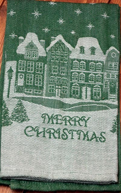 Merry Christmas Jacquard Dishtowel