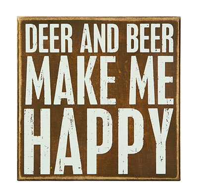 Deer and Beer Box Sign