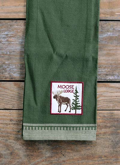 Moose Applique Dishtowel