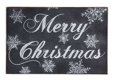 Merry Christmas Wooden Postcard