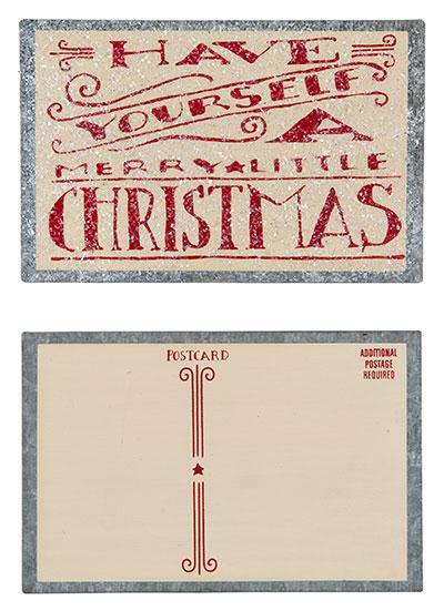 Merry Little Christmas Tin Postcard