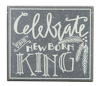 Newborn King Box Sign