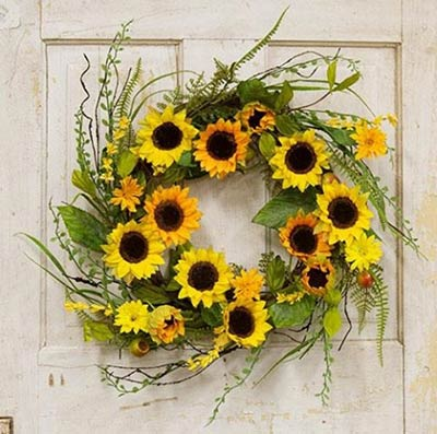 Sunflower Wreath with Berries