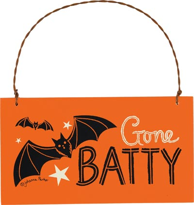 Gone Batty Sign Ornament