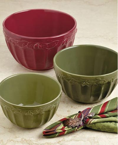 Autumn Acorns Mixing Bowls (Set of 3)