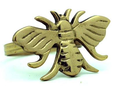 Golden Bee Napkin Ring