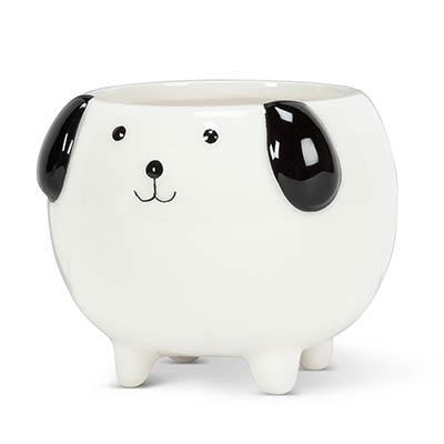Mini Dog Ceramic Pot