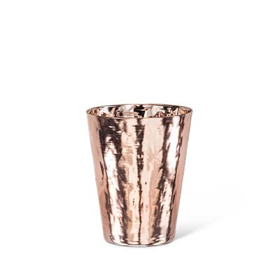Hammered Copper Finish Tumblers (Set of 4)