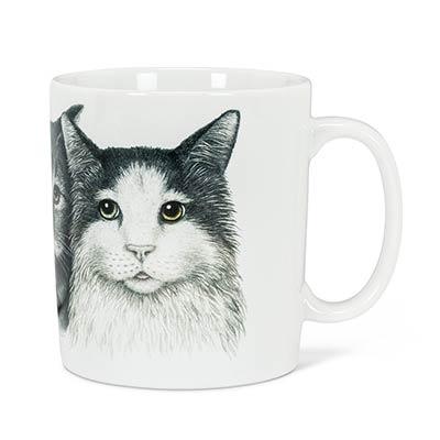 Three Cats Mugs (Set of 4)