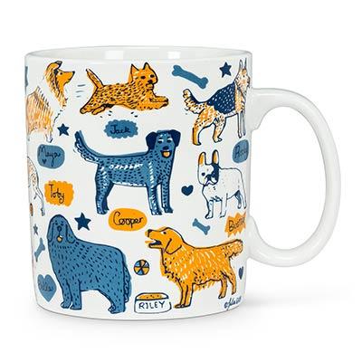 Dogs & Names Mugs (Set of 4)