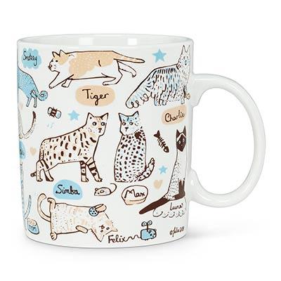 Cats & Names Mugs (Set of 4)