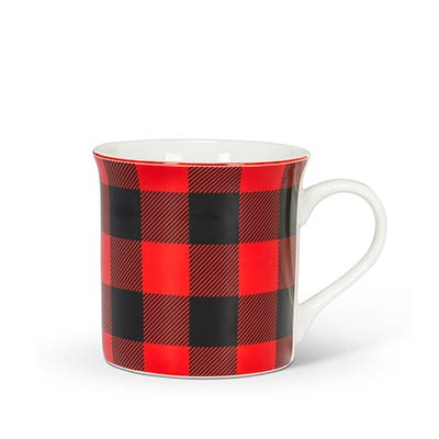 Red & Black Buffalo Check Mug