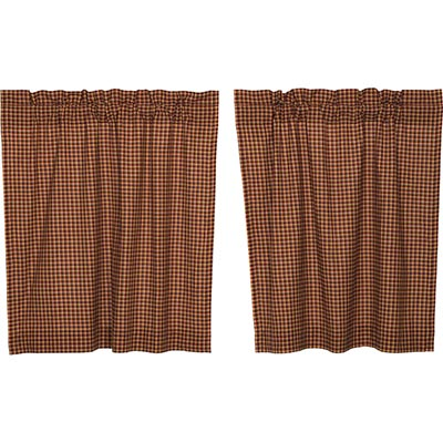 Patriotic Patch Plaid Cafe Curtains (36 inch)