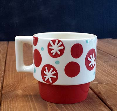 Stackable Patterned Mug