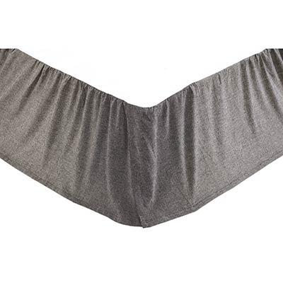 Black Chambray Bed Skirt - King
