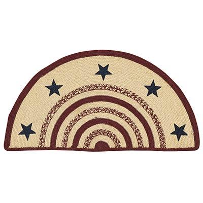 Potomac Braided Rug with Stars - Half Circle
