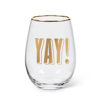 Yay Stemless Wine Glasses (Set of 4)
