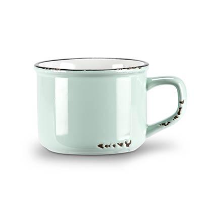 Mint Enamel Look Cappuccino Mugs (Set of 6)