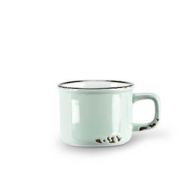 Mint Enamel Look Espresso Mugs (Set of 6)