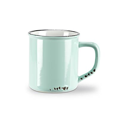 Mint Enamel Look Coffee Mugs (Set of 6)