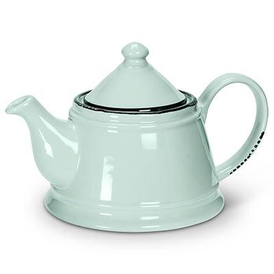 Mint Enamel Look Teapot