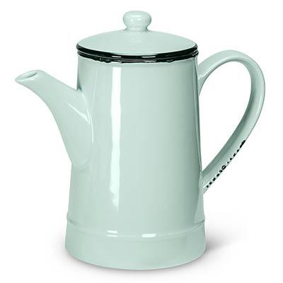 Mint Enamel Look Coffee Pot