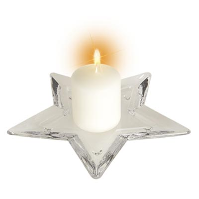 Star Plate or Candle Holder - Large