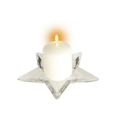 Star Plate or Candle Holder - Small