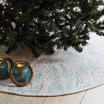 Arielle Beach Christmas Tree Skirt