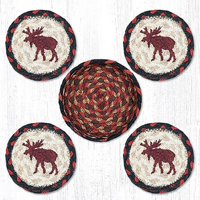 Moose Braided Coaster Set