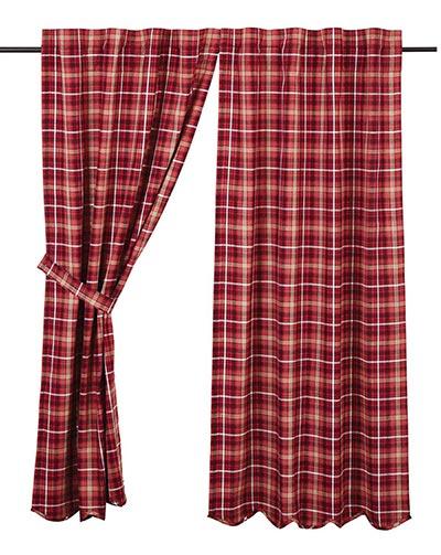 Braxton Red Plaid 84 inch Panels