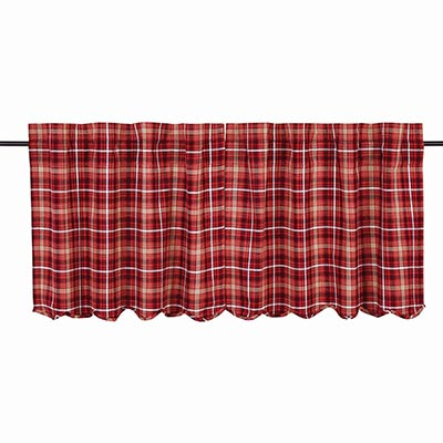 Braxton Red Plaid Cafe Curtains (24 inch)