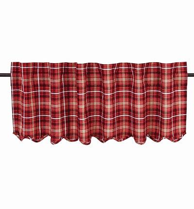 Braxton Red Plaid Valance (60 inch)
