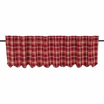 Braxton Red Plaid Valance (72 inch)