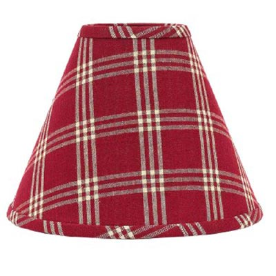 Middletown Check RED Lamp Shade - 6 inch