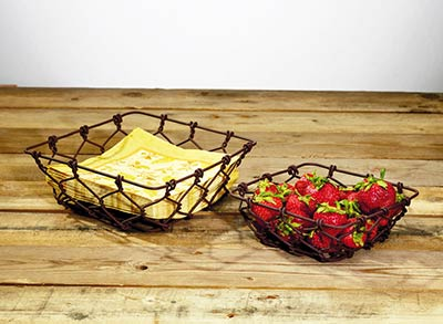 Rusty Wire Baskets (Set of 2)