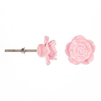 Pink Rose Knobs (Set of 3)