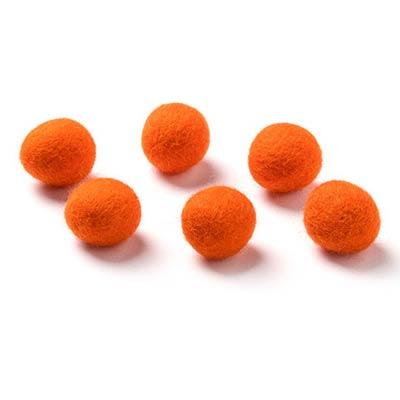 Wool Balls in Orange (6 pack)