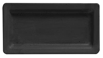 Black Rectangle Tray - 13 inch