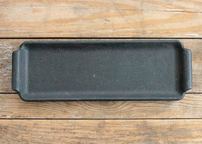 Rectangle Dish with Handles - Black