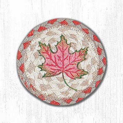 Autumn Leaves Braided Coaster