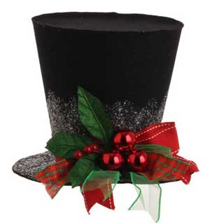 Holly Top Hat - 7 inch