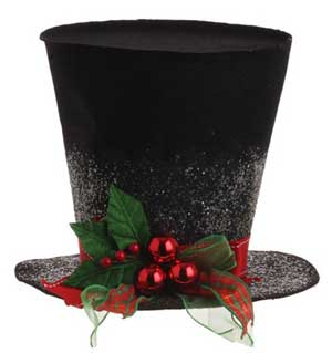 Holly Top Hat - 9 inch